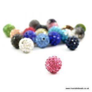 Pink Crystal Clay Beads - Riverside Beads