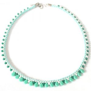 Piptastic Prumihimo Necklace Peppermint-riverside beads