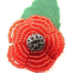 Charity Beaded Poppy Brooch-riverside beads