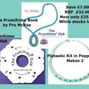 Piptastic Bundle Prumihimo Book,-riverside beads