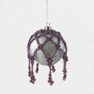 Beaded Bauble Net Purple - riverside beads