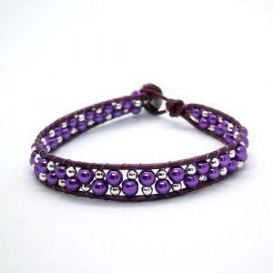 Leather Bracelet Kit - Purple - riverside beads