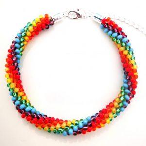 6 Stripe Rainbow Bracelet - riverside beads