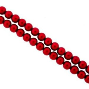 Glass Pearls - Red - 3mm, 4mm, 6mm, 8mm - Riverside Beads