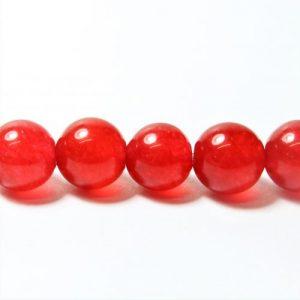 Red Jade Bead 8mm - Riverside Beads