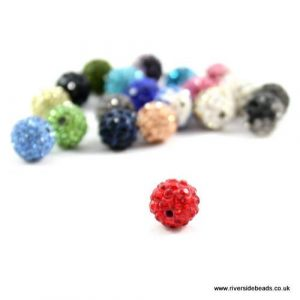 Red Crystal Clay Beads - Riverside Beads