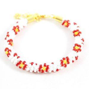 Julie Beaded Flower Kumihimo-riverside beads
