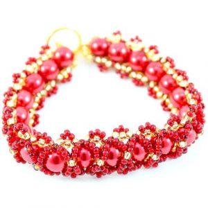 Caterpillar Bracelet Kit Red - Riverside Beads