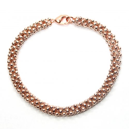 Rose Gold Cubic Right Angle-riverside beads