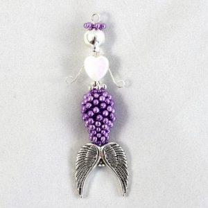 Shelly Beaded Mermaid Charm-riverside beads