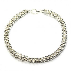 Silver Cubic Right Angle-riverside beads