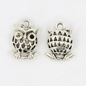Small Hollow Owl Charms - Riverside Beads