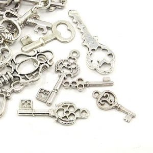 Assorted Key Charms - Silver - Charms - Riverside Beads