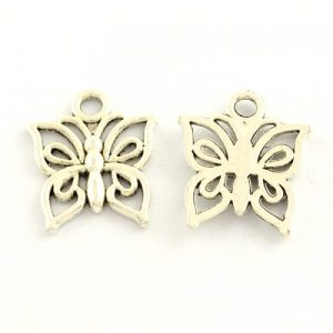 Tibetan Style Butterfly Charms - Riverside Beads