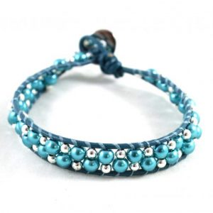 Leather Bracelet Kit - Tea - riverside beads