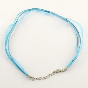 Ribbon Cord Necklace Turquoise - Riverside Beads