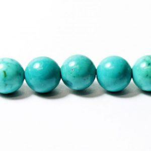 8mm Turquoise Howlite Beads - Riverside Beads