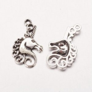 Unicorn Charms - Silver Plated - Riverside Beads