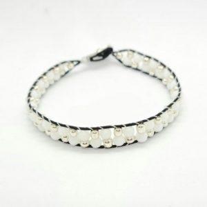 Round Cotton Cord Bracelet-riverside beads