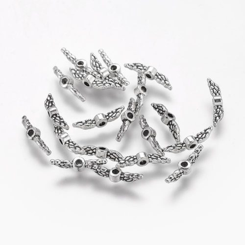 Tiny Angel Wings - Antique Silver-riverside beads