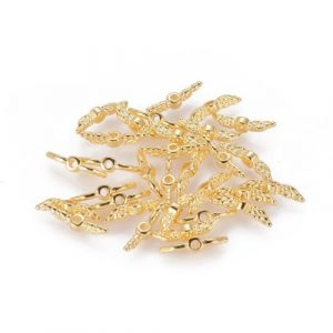 Tiny Angel Wings - Gold-riverside beads