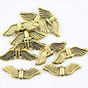 Angel Wings Sleek Antique-riverside beads