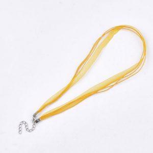 Ribbon Cord Necklace Yellow - Riverside Beads