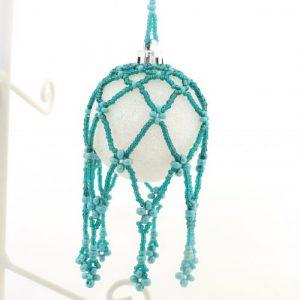 Beaded Bauble Nets Teal-riverside beads