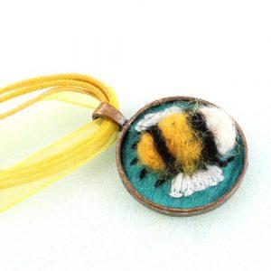 Needle Felted Bee Frame-riverside beads