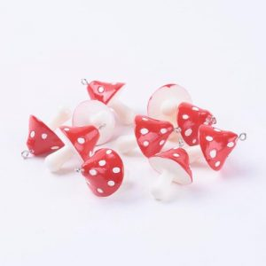 Resin Toadstool Charms - Riverside Beads