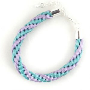 2mm Braided Kumihimo Bracelet-riverside beads