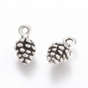 Silver Pine Cone Charm - Riverside Beads