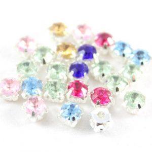 Montee Diamante Spacer Bead - Riverside Beads