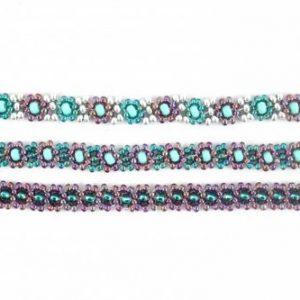 Daisy Chain Beadweaving Necklace - riverside beads