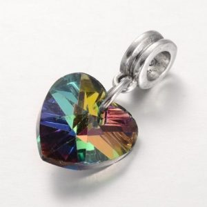Heart Charm Dropper Bead - Riverside Beads