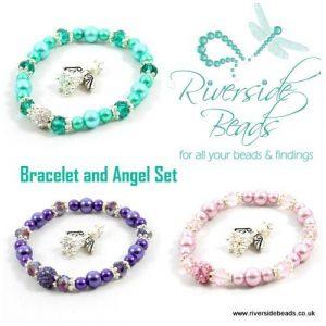 Sparkle Spacers Bracelet and Angel-riverside beads