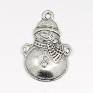 Snowman Charms - Silver - Charms - Riverside Beads