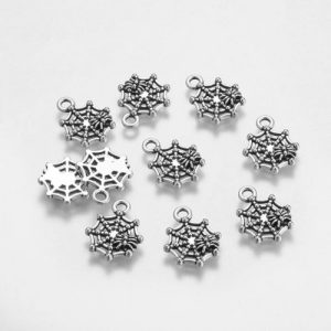 Spider Web Charms - Silver - Charms - Riverside Beads