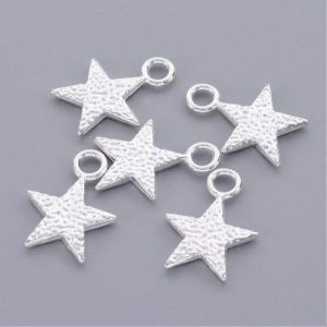 Textured Star Charms - Riverside Beads