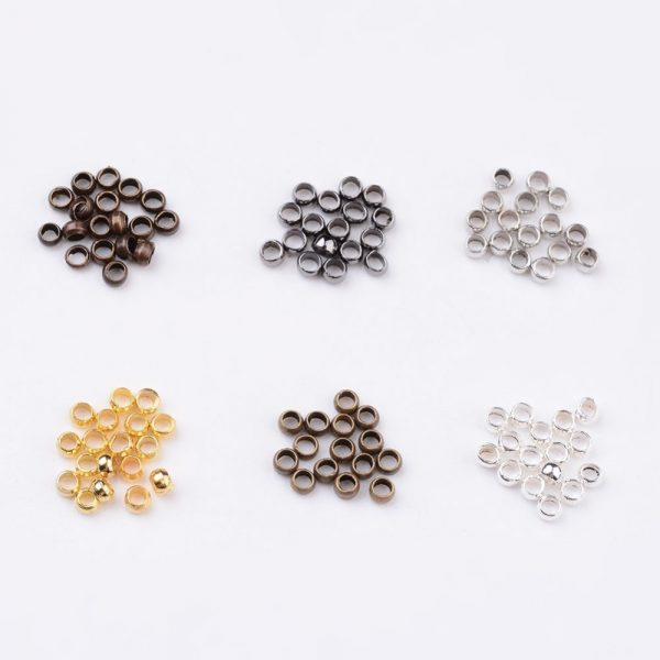 2mm Crimp Bead Findings Set