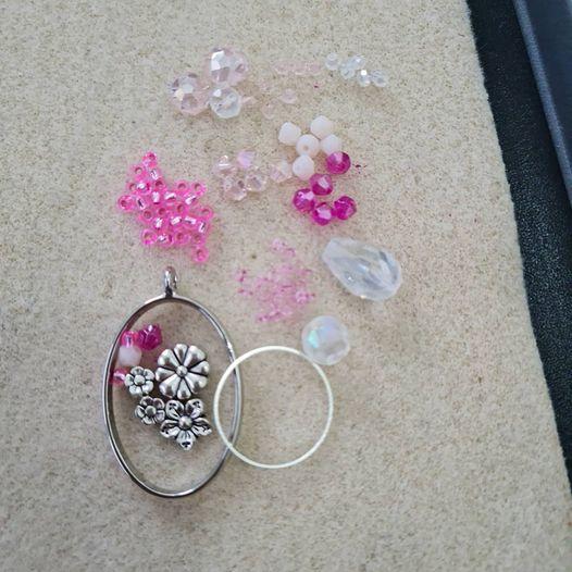 Pink Beaded Suncatcher Kit- Riverside Beads