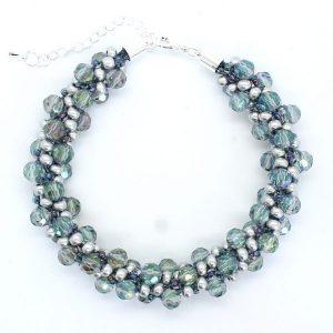 Blue Crystal Kumihimo Kits - Riverside Beads
