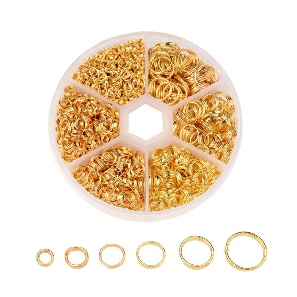 Gold Split Rings Collection - Riverside Beads