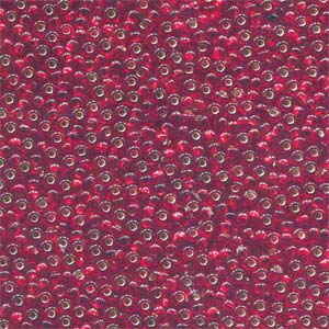 Size 11/0 Preciosa Seed Beads - S/L Ruby - Riverside Beads