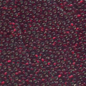 Size 8/0 Preciosa Seed Beads - Czech S/L Garnet - Riverside Beads