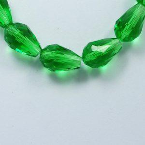 Crystal Drop Bead - Green - Riverside Beads