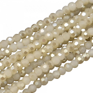 4mm Round Glass Faceted Crystal - Smoky Quartz - Riverside Beads
