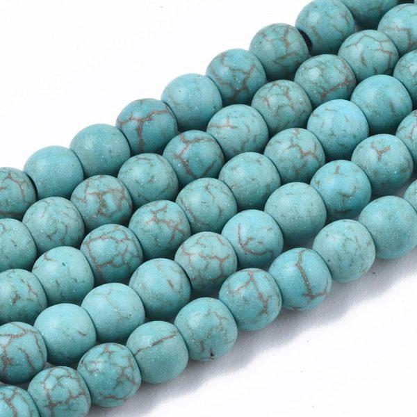 4mm Imitation Turquoise Bead - Teal - Riverside Beads