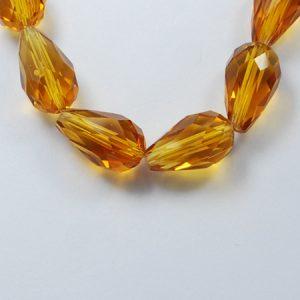 Crystal Drop Bead - Chocolate - Riverside Beads