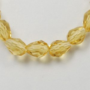 Crystal Drop Bead - Light Khaki - Riverside Beads